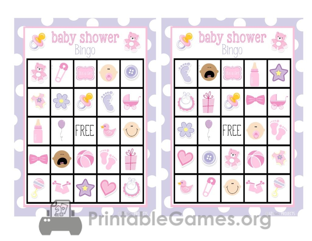 Baby Shower Bingo-Girl